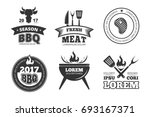 barbecue  grill  bbq steak...   Shutterstock . vector #693167371