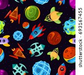 space seamless pattern with... | Shutterstock . vector #693167455
