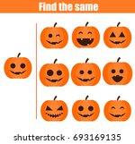 find the same pictures children ... | Shutterstock . vector #693169135