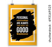 personal relations is the key... | Shutterstock .eps vector #693169525