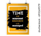 time is the scarcest resource... | Shutterstock .eps vector #693169579