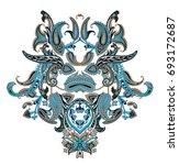 pattern paisley | Shutterstock . vector #693172687