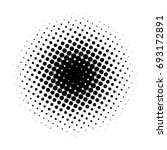 circle gradient halftone dots... | Shutterstock .eps vector #693172891