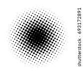 circle gradient halftone dots... | Shutterstock .eps vector #693172891