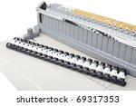 bookbinding machine isolated on ... | Shutterstock . vector #69317353