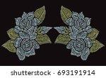 elegant hand drawn decoration... | Shutterstock . vector #693191914