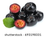 chokeberry with leaf isolated... | Shutterstock . vector #693198331