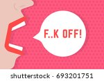 abstract woman shout fuck off... | Shutterstock .eps vector #693201751