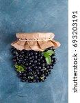 fresh blueberry like a jar for...   Shutterstock . vector #693203191