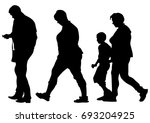 families with child on white... | Shutterstock . vector #693204925