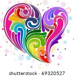 Illustration Of Rainbow Colore...