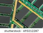 computerchip  technology and... | Shutterstock . vector #693212287