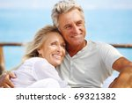 happy mature couple outdoors. | Shutterstock . vector #69321382