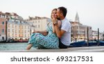 couple passionated moment. man... | Shutterstock . vector #693217531