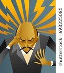 mentalist reading mind | Shutterstock .eps vector #693225085