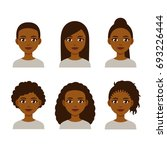 black women faces with... | Shutterstock .eps vector #693226444