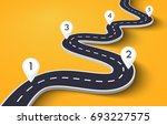 winding road on a white... | Shutterstock .eps vector #693227575