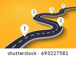winding road on a white... | Shutterstock .eps vector #693227581