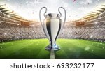 silver trophy. football... | Shutterstock . vector #693232177