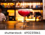 colorful summer cocktail on a... | Shutterstock . vector #693235861