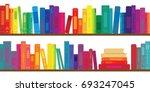 vector illustration of books... | Shutterstock .eps vector #693247045
