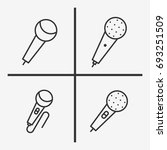 microphone icons  set...