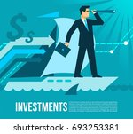 investment business plans flat... | Shutterstock .eps vector #693253381