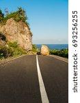 New Asphalt Coastal Road Path...