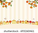 autumn town scape vector... | Shutterstock .eps vector #693260461