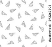 seamless pattern with pizza.  a ... | Shutterstock .eps vector #693263905