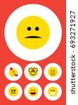 flat icon emoji set of... | Shutterstock .eps vector #693271927