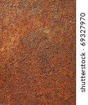 Rusty Metal Background Closeup