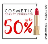 cosmetics sale banner with... | Shutterstock .eps vector #693283429