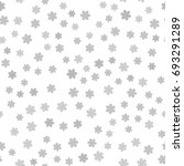 gray flower pattern. seamless... | Shutterstock .eps vector #693291289