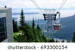 Sky ride on Grouse Mountains with Vancouver city on the background
