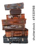 Pile Of Old Vintage Suitcases ...