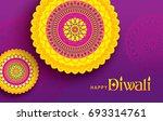 diwali festival greeting card... | Shutterstock .eps vector #693314761