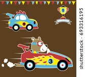 car racing vector cartoon... | Shutterstock .eps vector #693316195