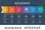 infographic element vector with ... | Shutterstock .eps vector #693324169