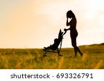 mother stressed and tired with... | Shutterstock . vector #693326791