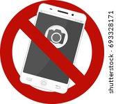 not allowed mobile photos sign | Shutterstock .eps vector #693328171