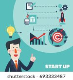 successful smiling businessman... | Shutterstock .eps vector #693333487
