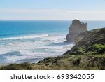 Nature View Of Stone Cliff And...