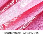 the texture of the silk fabric  ... | Shutterstock . vector #693347245