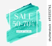 sale 50   70  off sign over... | Shutterstock .eps vector #693353761