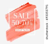 sale 50   70  off sign over... | Shutterstock .eps vector #693353791