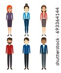 diversity people icon set | Shutterstock .eps vector #693364144
