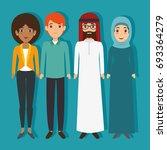 diversity people concept | Shutterstock .eps vector #693364279