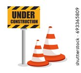 under construction design | Shutterstock .eps vector #693365809
