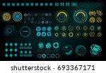 futuristic virtual graphic... | Shutterstock .eps vector #693367171